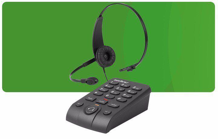 Telefone Intelbras Headset com Base Discadora HSB50  - Mega Computadores