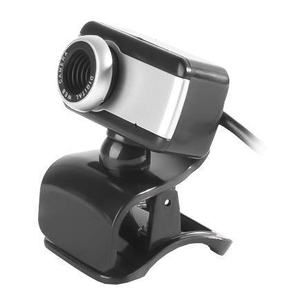 Webcam BrazilPC V4 1,5MP Com Microfone Integrado - Preta/Prata  - Mega Computadores