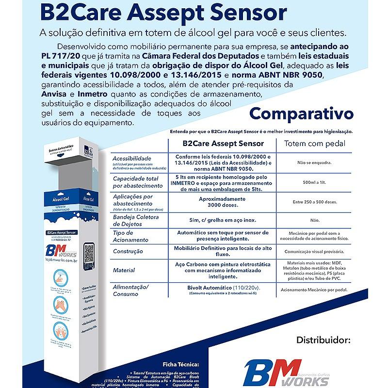 "B2Care V.2 (Totem Álcool em Gel ""touch free"") | COMPRA"