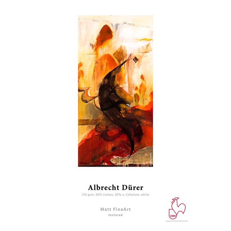 Hahnemühle Albrecht Dürer 210g/m2 · 50% algodão · 50% alfa-celulose · branco · autêntico papel artesanal