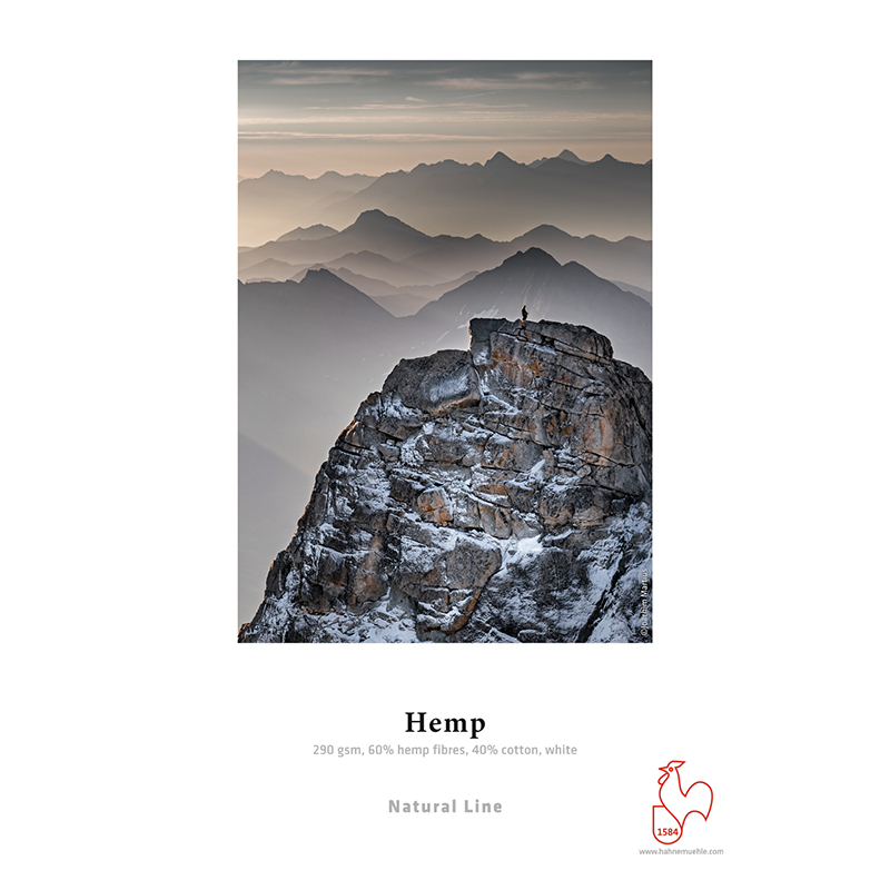 Hahnemühle Hemp 290g/m2 · 60% fibras de cânhamo · 40% algodão · branco