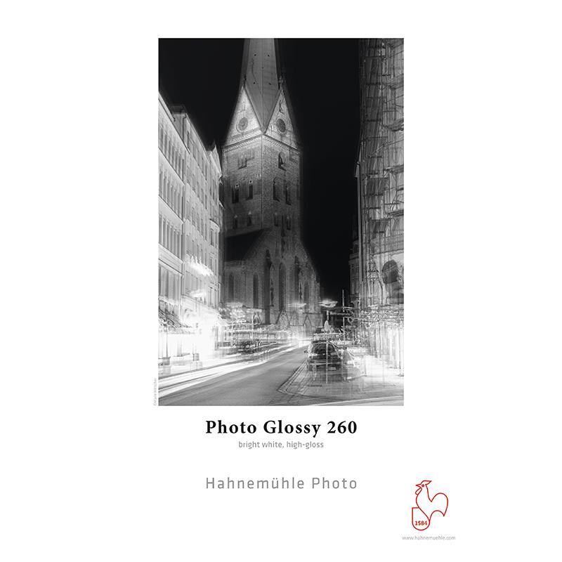 Hahnemühle Photo Glossy 260g/m2 · Papel PE · branco intenso · brilhante