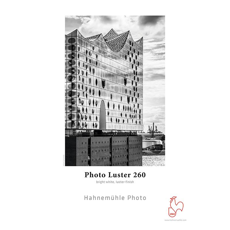 Hahnemühle Photo Luster 260/290g/m2 · Papel PE · branco intenso · semi-brilho