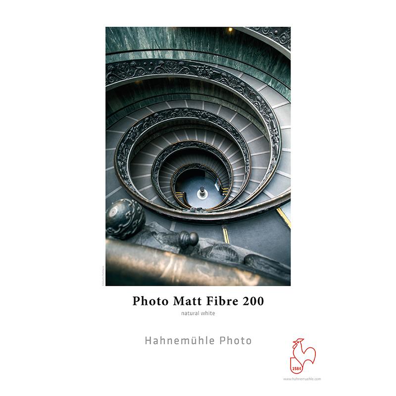 Hahnemühle Photo Matt Fibre 200g/m2 · 100% alfa-celulose · branco natural · mate