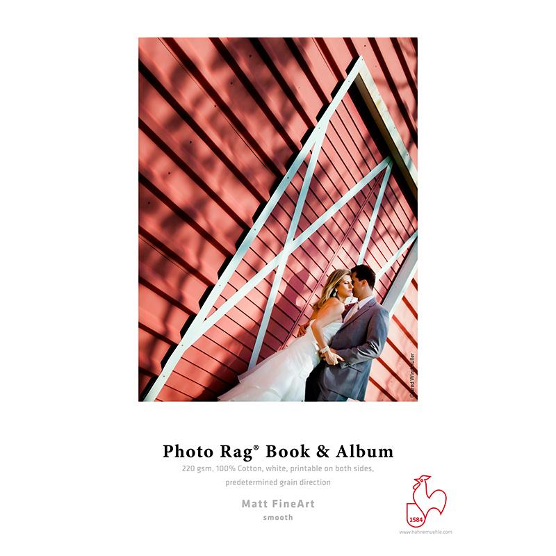 Hahnemühle Photo Rag® Book & Album 220g/m2 · 100% algodão · branco · impressão dupla-face