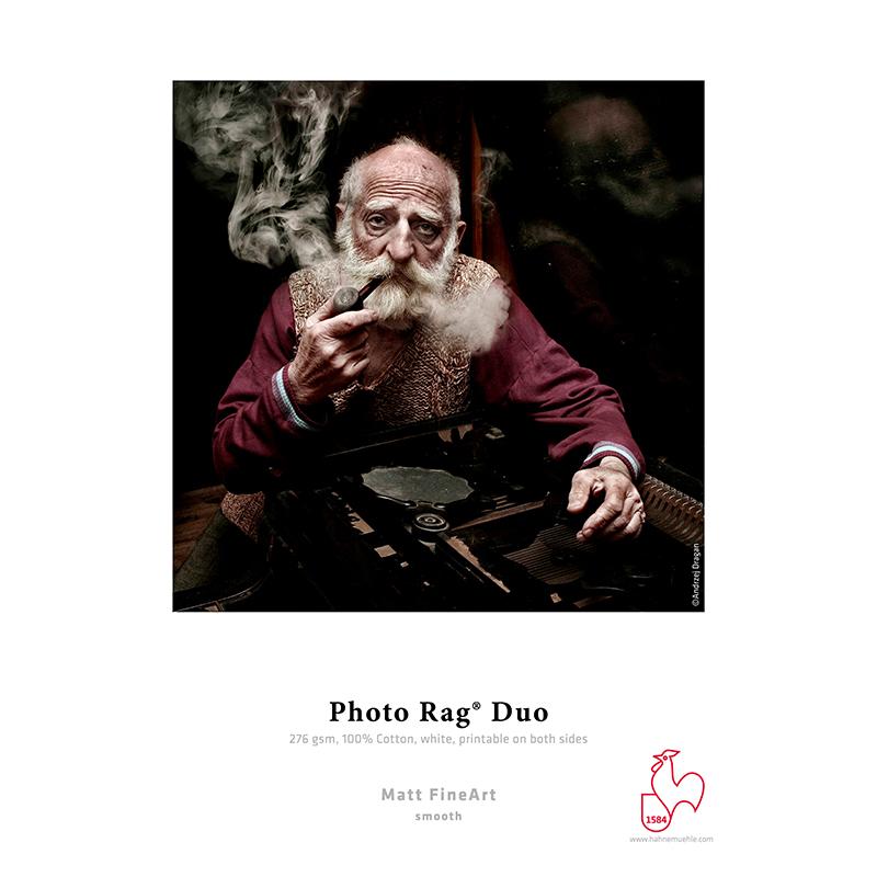 Hahnemühle Photo Rag® Duo 276g/m2 · 100% algodão · branco · impressão dupla-face