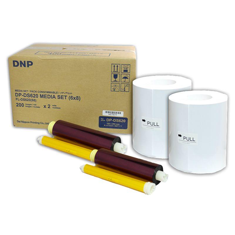 Papel Fotográfico DNP DS620A 15x20 (2 rolos)