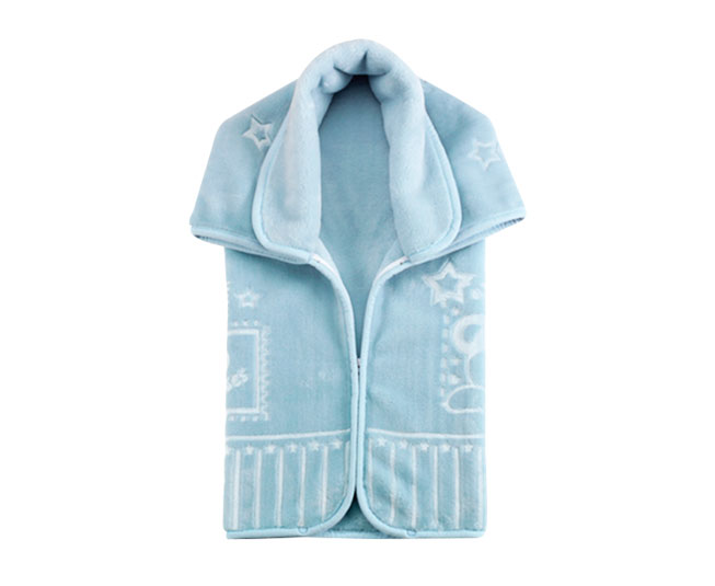 Baby Sac Premium Relevo Ursinho Mensageiro Azul Colibri