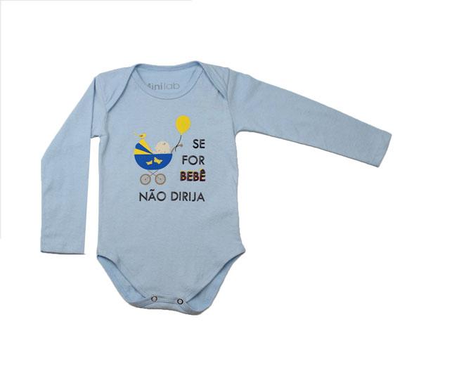 Body Masculino Se For Bebê Não Dirija Minilab