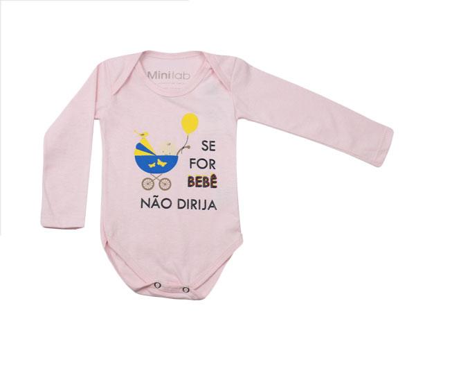 Body Rosa Se Bebê Não Dirija Minilab
