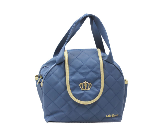 Bolsa Maternidade Coroa Azul Bebê Pequena com Alça Ajustável Din Don