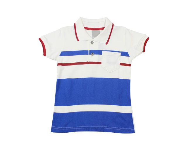 Camisa Polo Carinhoso Azul Listrada