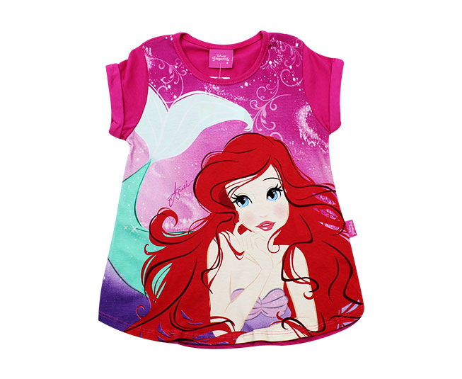 Camiseta Ariel Pequena Sereia Disney Brandili
