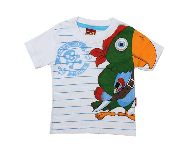 Camiseta Branca Papagaio Kyly
