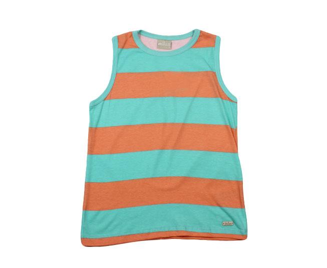 Camiseta Masculina Regata Listrada Milon