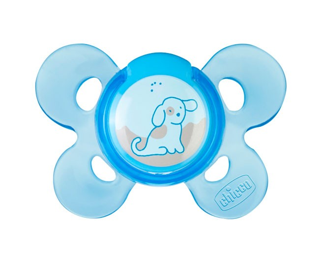 Chupeta Physio Comfort Azul Dog Tamanho 1 (0-6 meses) Chicco