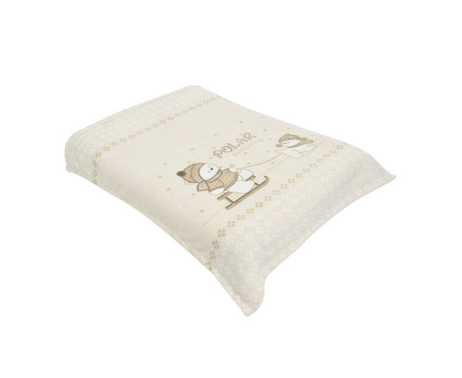 Cobertor Acalanto Estampado Ursinho Polar Bege Colibri