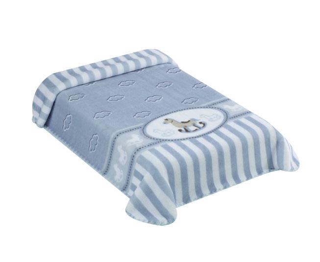 Cobertor Exclusive Estampado Cavalinho Azul Colibri