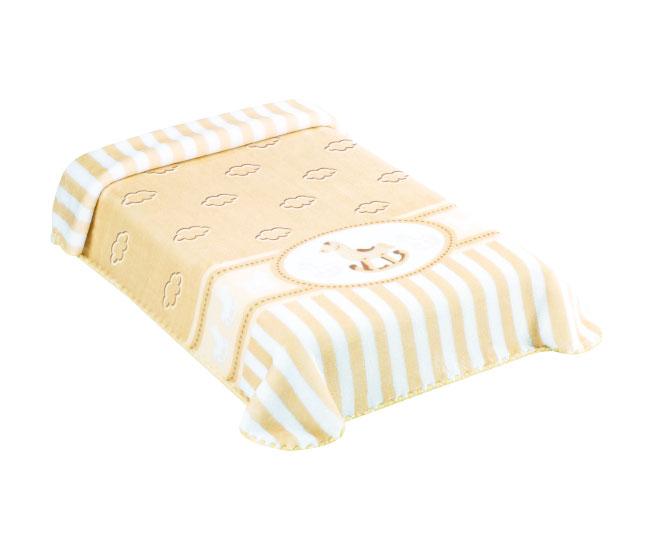 Cobertor Exclusive Estampado Cavalinho Bege Colibri