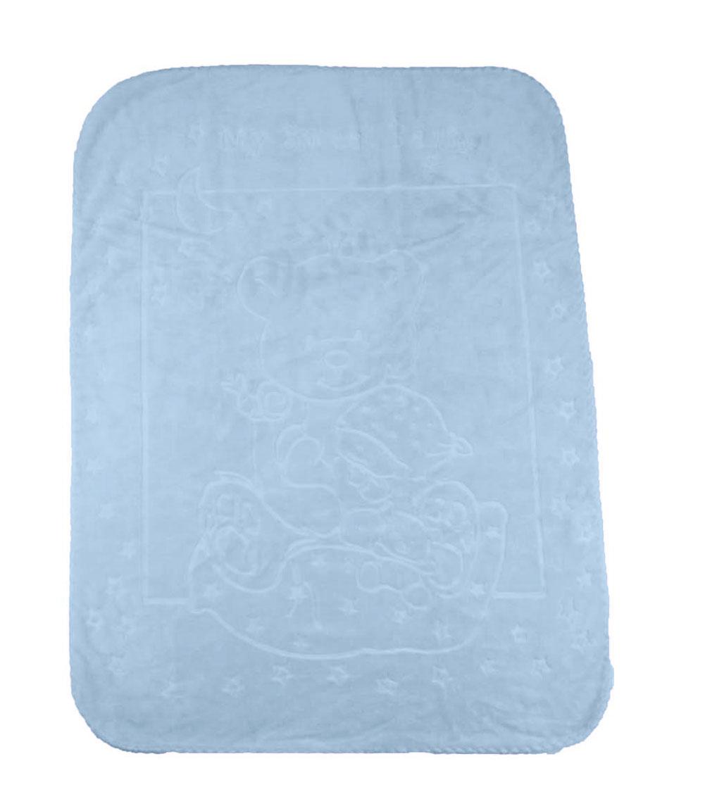 Cobertor Infantil Raschel com Relevo My Sweet Bear Azul Jolitex Ternille