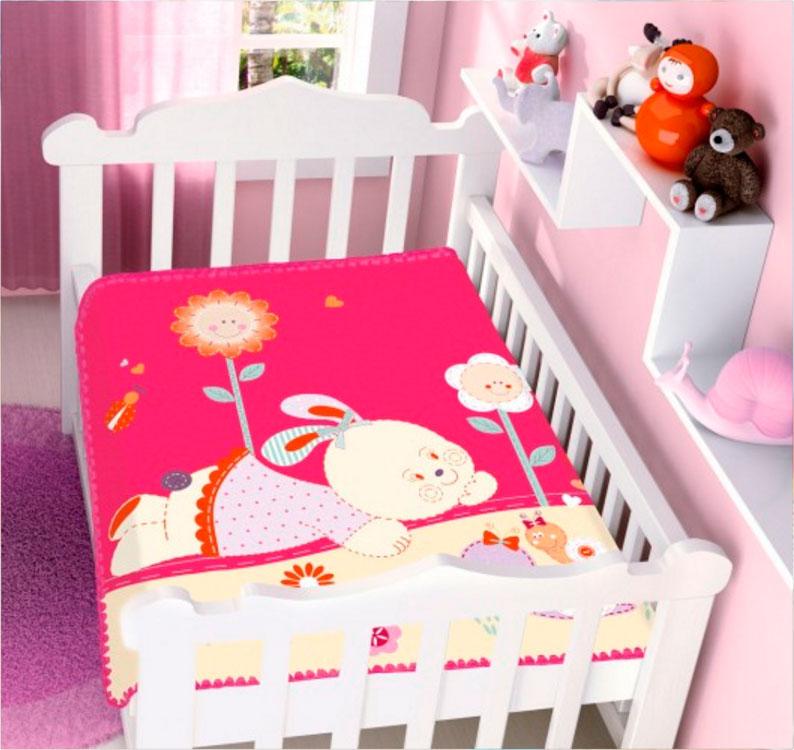 Cobertor Infantil Raschel Conversa no Jardim Pink Jolitex Ternille