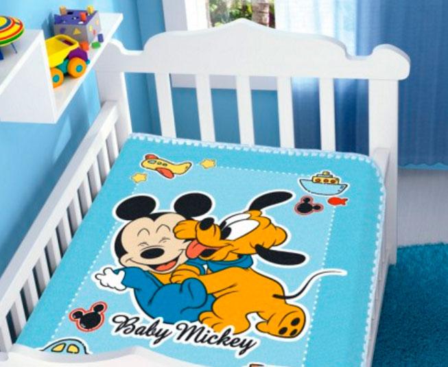 Cobertor Mickey Diversão Azul Raschel Jolitex Ternille
