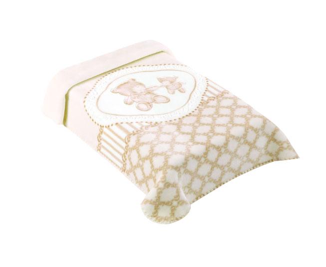 Cobertor Premium Estampado Classic Bege Colibri