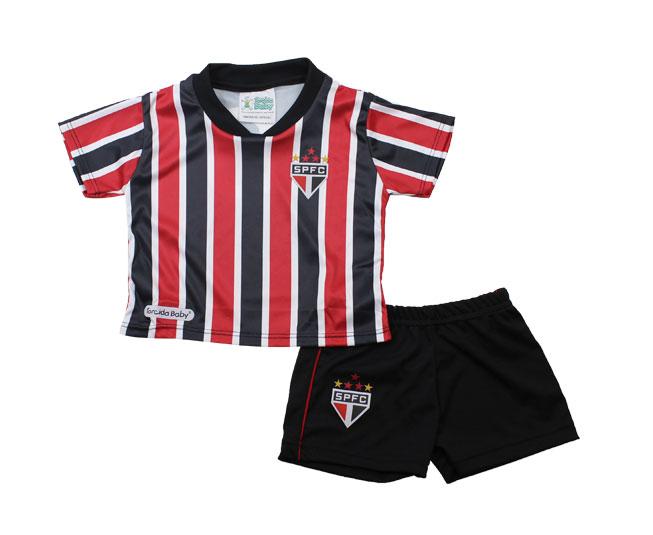 Conjunto Micro Dry Sublimado Camiseta + Short + Diploma Oficial São Paulo