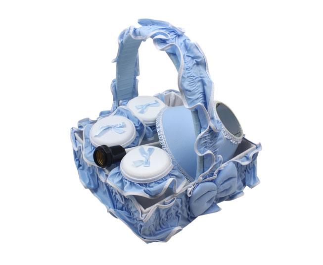 Kit Azul Liso de Enxoval Miguel Baby