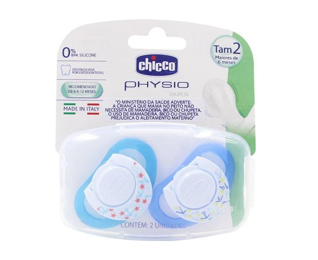 Kit de Chupeta Physio Tamanho 2 (6 a 12 meses) Chicco