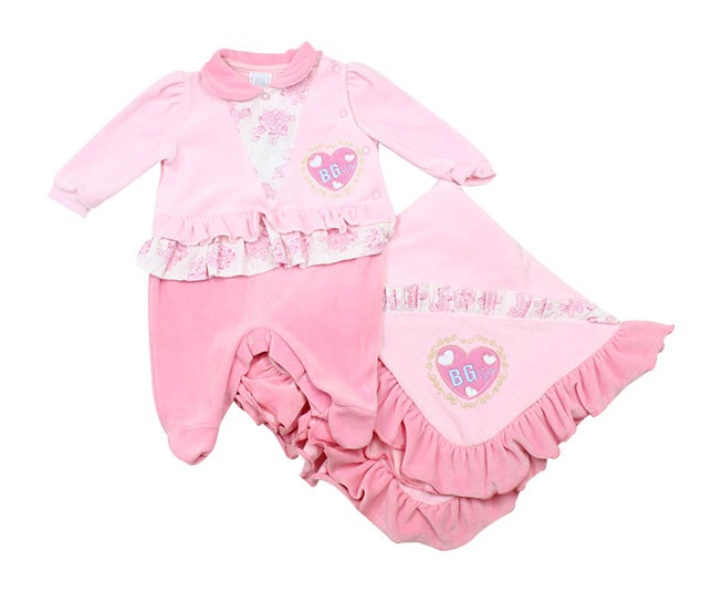 Kit Saída de Maternidade Feminino Coração Rosa Baby Cijo