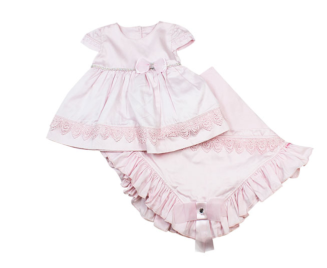 Kit Saída de Maternidade Feminino Princess Vestido + Tiara Paraíso Moda Bebê