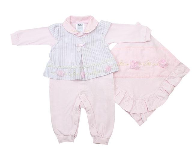 Kit Saída de Maternidade Feminino Rosa Lacinho Sonho Mágico