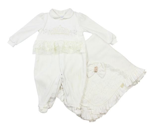 Kit Saída Maternidade Branco com Bordados Paraíso