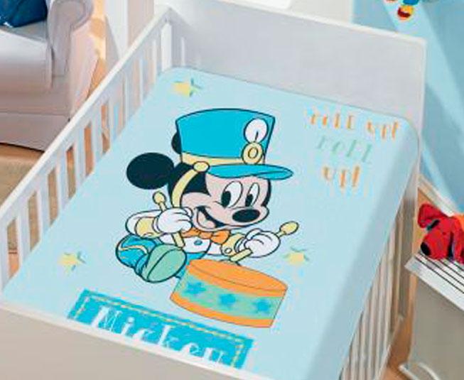 Manta de Microfibra Mickey Roll Up Azul Jolitex Ternille