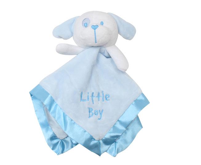 Naninha Cachorrinho Branco com Azul Claro Tip Top