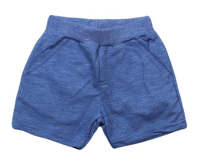 Short Azul  com Bolsos Laterais Brandili