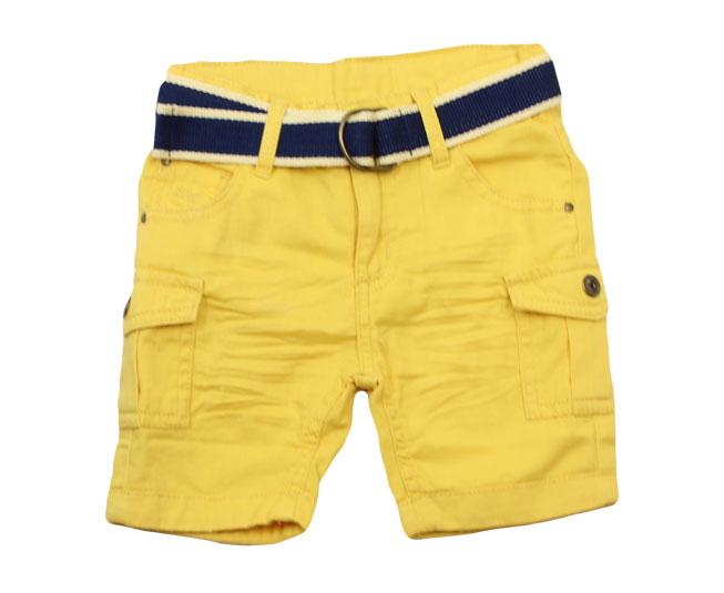 Short Jeans Amarelo com Cinto Sonho Mágico