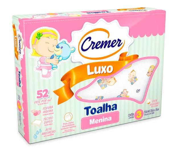 Toalha Luxo Menina Cremer