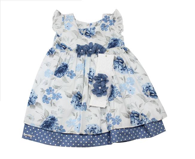 Vestido Floral Azul Sonho Mágico