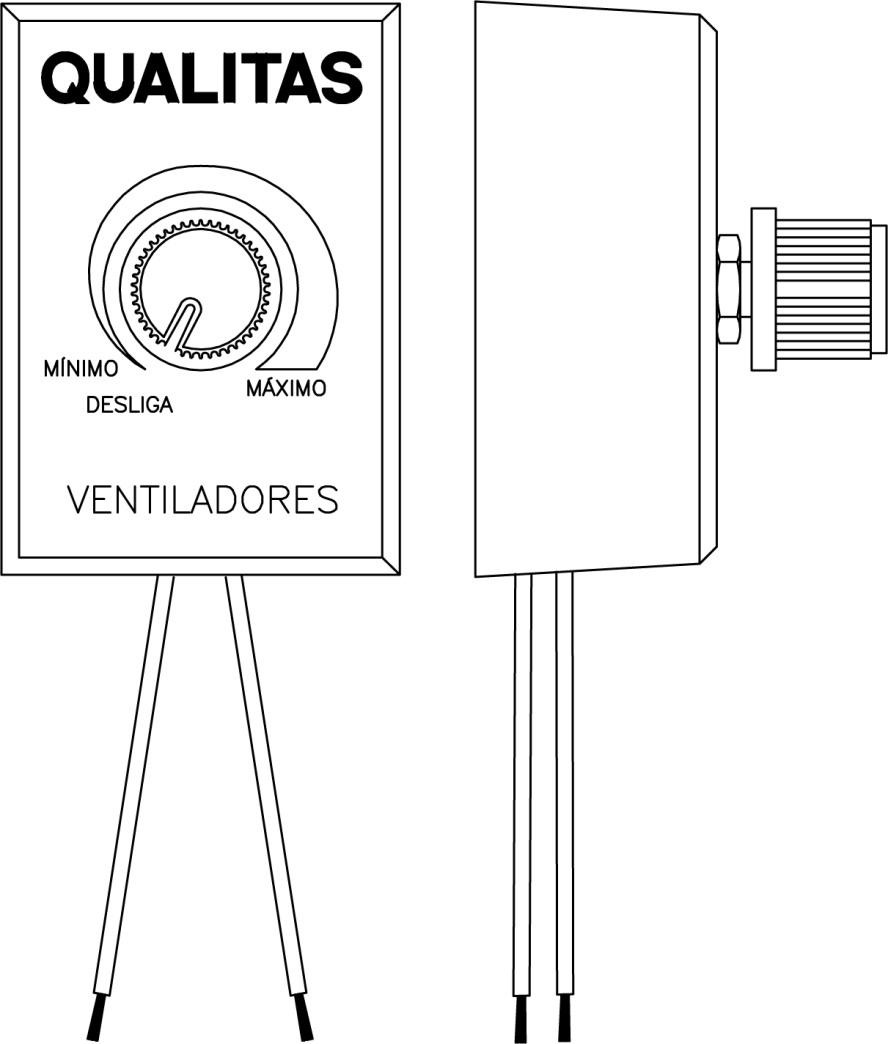 CONTROLE DE VELOCIDADE PARA VENTILADOR QUALITAS Q500/Q600 E Q670