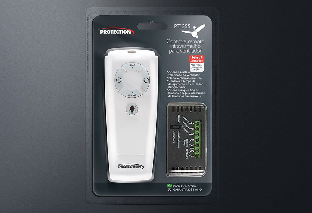 Controle Remoto Universal para Ventilador de Teto PT 355