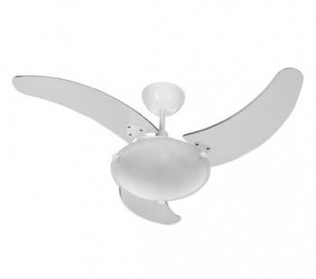 Ventilador de Teto Aura Branco com pás transparentes 127V