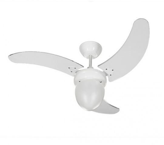 Ventilador de Teto Buzios Max Branco  com pás Transparentes 127v