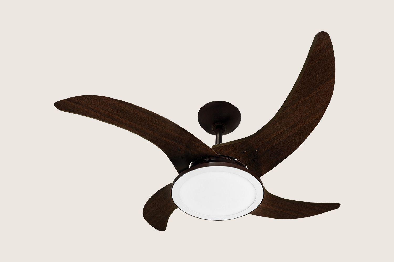 Ventilador de Teto Mareiro Marrom Café Led 127v
