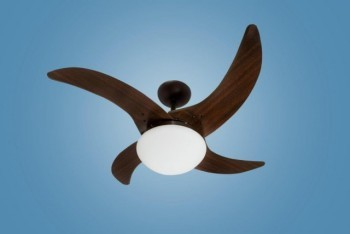 Ventilador de Teto Tron Mareiro Marrom Café  4 pás com 03 velocidades e Lustre 127v