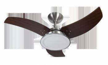 Ventilador de Teto Venon Led Alumínio Escovado 127 v Tabaco