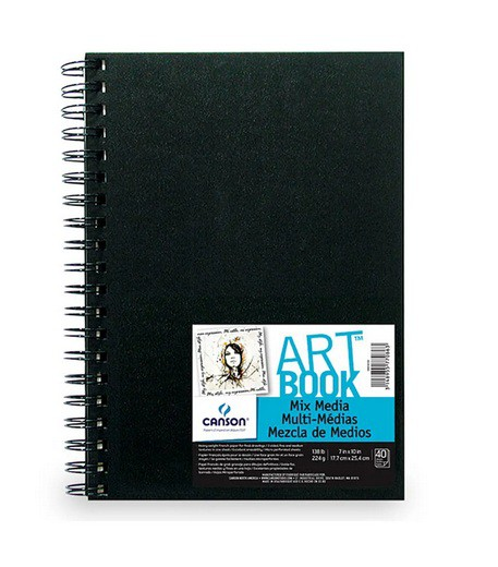 Canson® ArtBook™ Mix Media 40 folhas 224g/m²