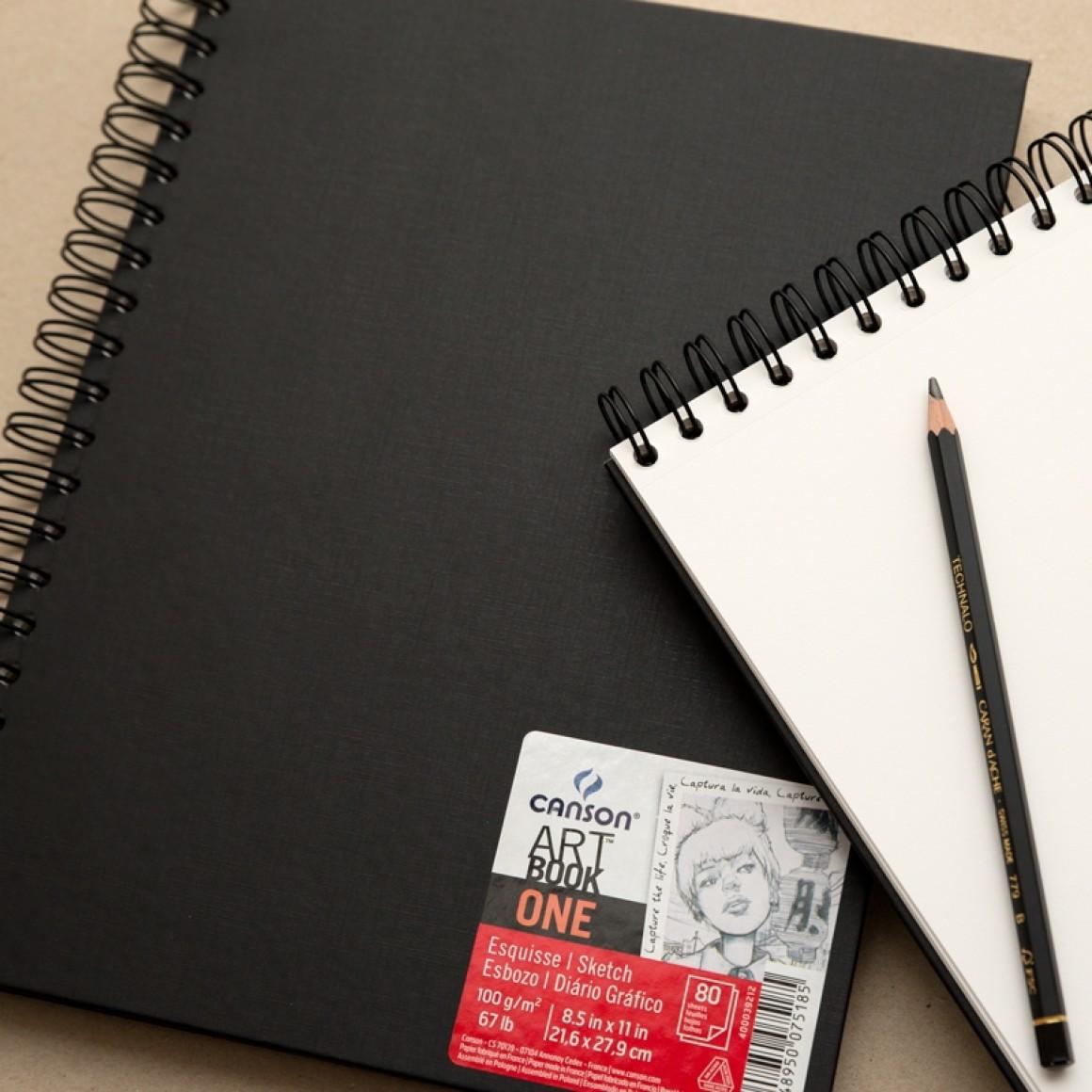 Canson® One ArtBook™ Espiral 80 folhas 100 g/m²
