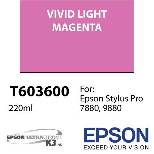 Cartucho de tinta Epson T603 UltraChrome K3 (220ml)